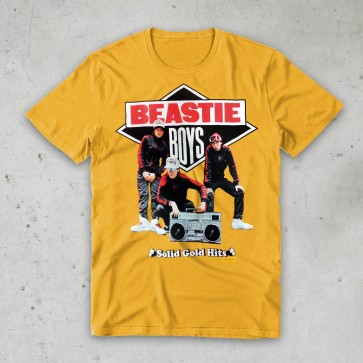T-SHIRT SOLID GOLD BEASTIE BOYS
