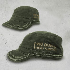 CAPPELLO PATROL - NERO A META' - OLIVE - PINO DANIELE