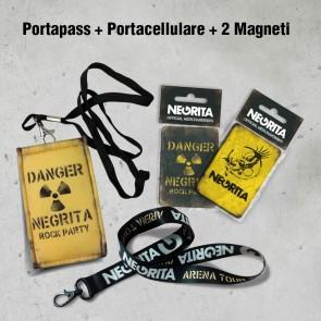 PORTAPASS+PORTACELLULARE+MAGNETI - NEGRITA