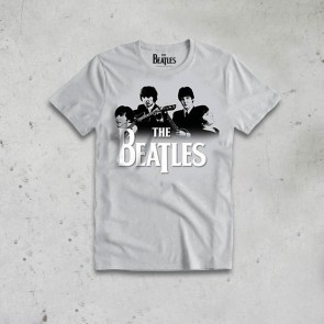 T-SHIRT BAND OVER LOGO THE BEATLES
