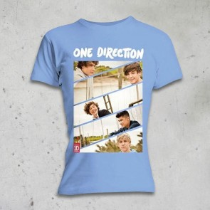 T-SHIRT DONNA BAND SLICED ONE DIRECTION
