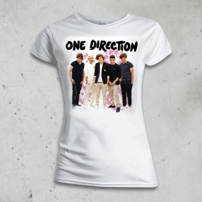 T-SHIRT DONNA FLOWERS ONE DIRECTION