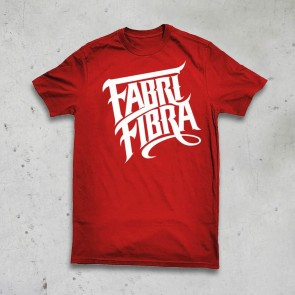 T-SHIRT ROSSA - FABRI FIBRA