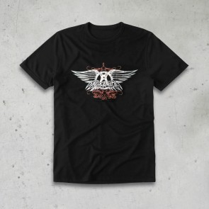T-SHIRT FADED WINGS  AEROSMITH