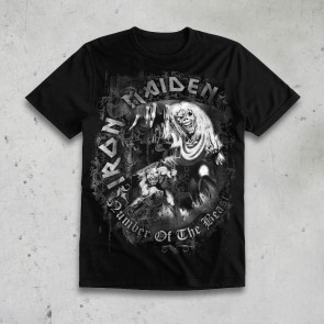 T-SHIRT NUMBER OF THE BEAST GRIGIA IRON MAIDEN