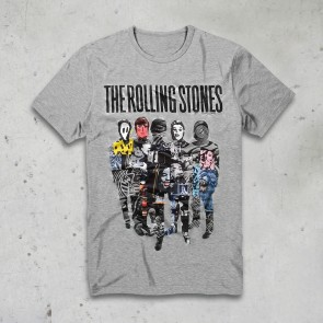 T-SHIRT SILHOUETTE COLLAGE ROLLING STONES