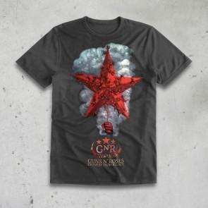 T-SHIRT STAR WITH SMOKE GRIGIA GUNS N'ROSES