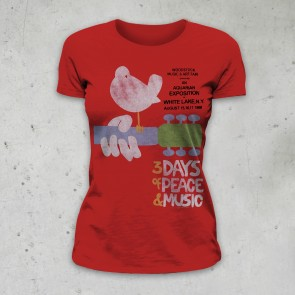 T-SHIRT DONNA UPSTATE '69 WOODSTOCK